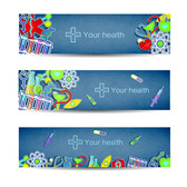 Free vector about health care banner