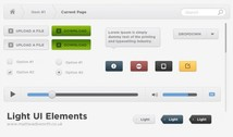 Light Web UI Elements PSD Set