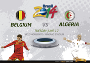 Belgium Vs. Algeria match for Brazil 2014