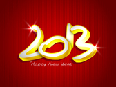 Free New 2013 year greeting card vector-4