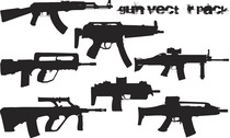 Vector Trend Design Elements - Gun Silhouette
