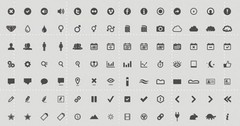 126 Multi-Purpose Glyph Icons Pack PSD