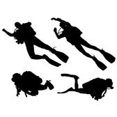 DIVERS VECTOR SILHOUETTES.eps