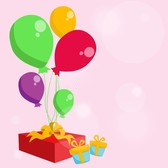 Balloons With And Gift