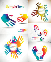 Beautiful Hands And Feet Silhouette Pattern