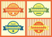 Retro Lemonade Badges