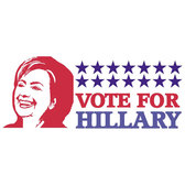 VOTE FOR HILLARY CLINTON VECTOR.eps