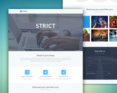 Strict Portfolio Template