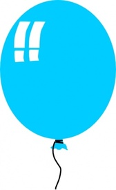 Helium Blue Balloon