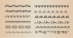 Set of Vector Borders Decorative Elements for Design