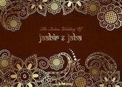 Free Vector Golden Indian Wedding Card