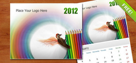 Calendario de pared PSD gratis 2012