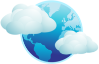 blue earth clouds PSD