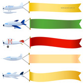 Vector Banner Towing Aircraft Material