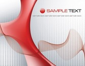 Red Tech Abstract Design Grey Dotted Background