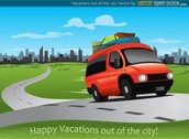 Free Vector Vacations out of the city