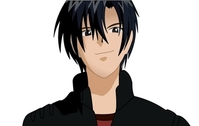 Black haired anime character boy