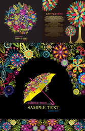 Composed of colorful graphic pattern
