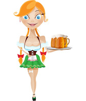Waitress Vector Character