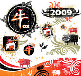 2009 Year Of The Ox Trend Element
