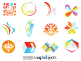 Free Decoration Logo Template Vector Icons