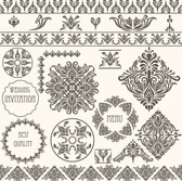 Classic lace pattern lace border