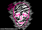 Vector Skull Black Background