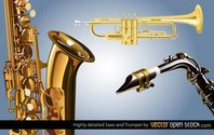 Free Saxophone and Trumpet
