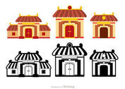 Chinese Temple Vectors