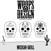 Free Mexican Sugar Skull Vector Art