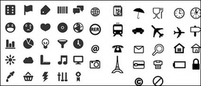 Utility marking of small icons