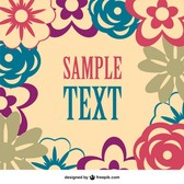 Floral vector free image