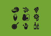 Cooking Oil Vector Icons