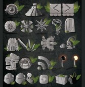 Mayan Artifacts Web Icons Vector Pack