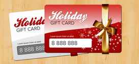 Holiday Gift Card PSD modello
