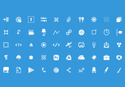 50 Web Glyph Icons PSD Pack