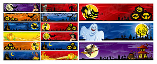 Halloween Decoration Material Banner Banner
