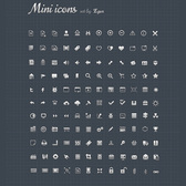 132 Finely Detailed Mixed Glyph Icons Pack PSD