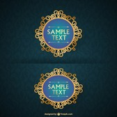 Vintage golden frames design
