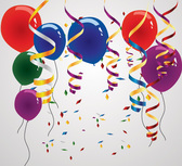 Colorful Balloon & Confetti Birthday Vectors (Free)