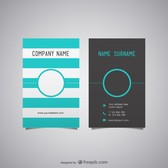 Free business card layout