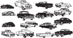 Free vector old-fashioned cars