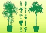 Potted Plant Silhouettes