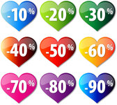 Discount crystal heart-shaped icon