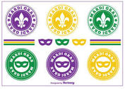 Mardi Gras Stamps / Badges