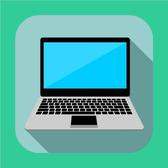 LAPTOP FLAT ICON VECTOR.eps