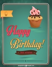 Happy Birthday Cupcake Design