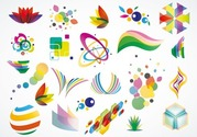 Colorful Logo Design Elements Vector Set