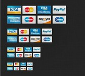 8 eCommerce Credit Card Icons Set PSD