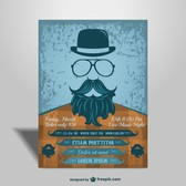 Concert mock-up hipster style poster